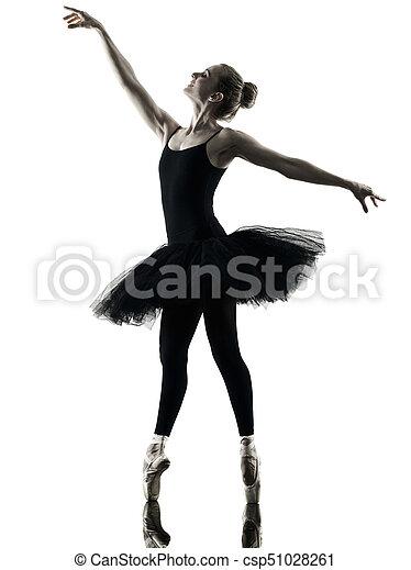 Bailarina bailarina bailarina aislada silueta - csp51028261