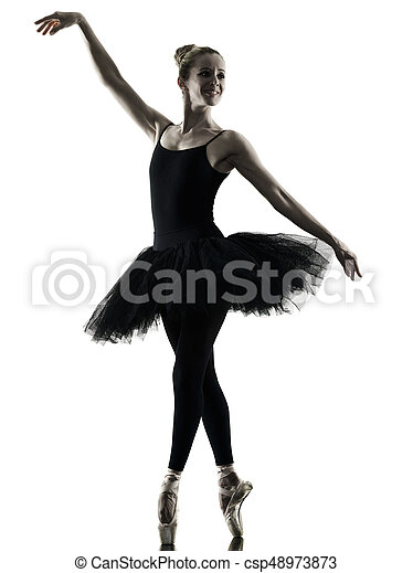 Bailarina bailarina bailarina aislada silueta - csp48973873