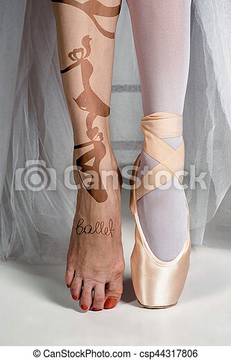 d8399468d bailarina, primer plano, shoes, joven, pies, pointe