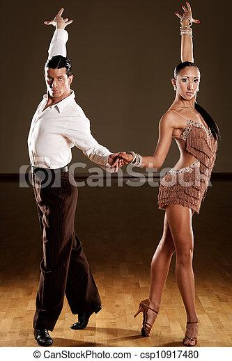 baile, acción, pareja, latino - csp10917480