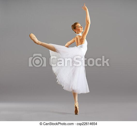 baile, bailarina, ballet, postura, clásico - csp22614654