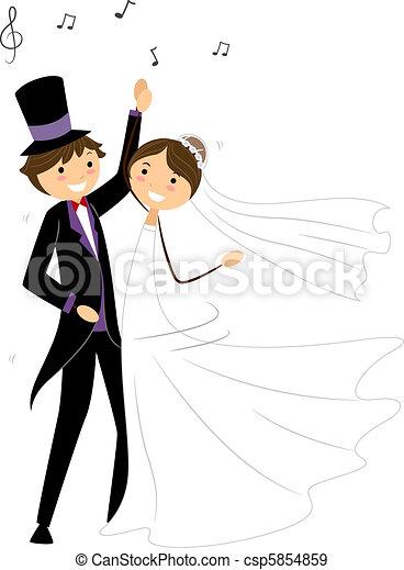 Baile de bodas - csp5854859