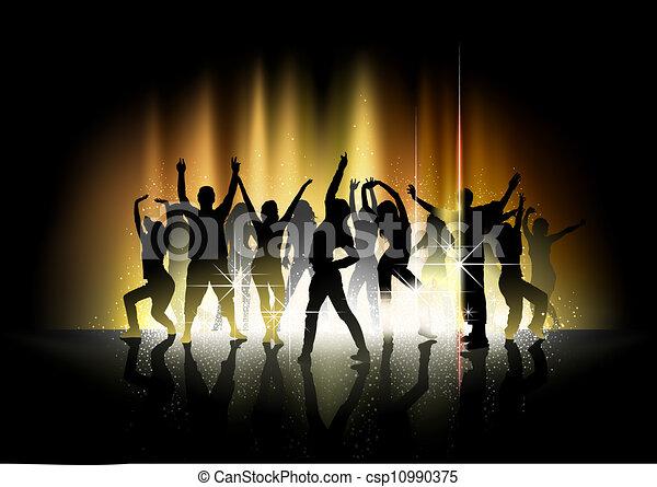 Baile y espectáculo de luz - csp10990375