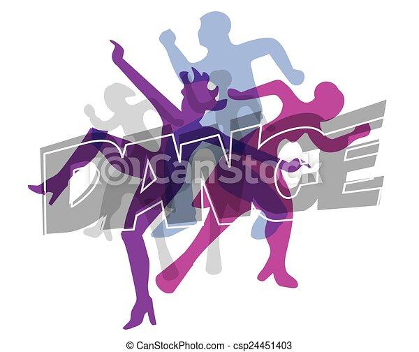 Modern dance colorido fondo - csp24451403