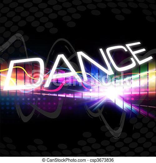 Un montaje de baile funky - csp3673836