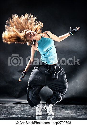 baile, mujer, moderno, joven - csp2709708