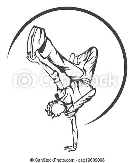 El símbolo de Dance Boy - csp19609098