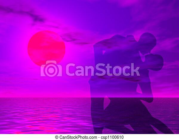 Baila al atardecer - csp1100610