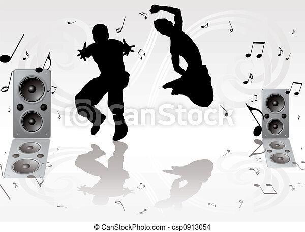 Un par de música de baile - csp0913054
