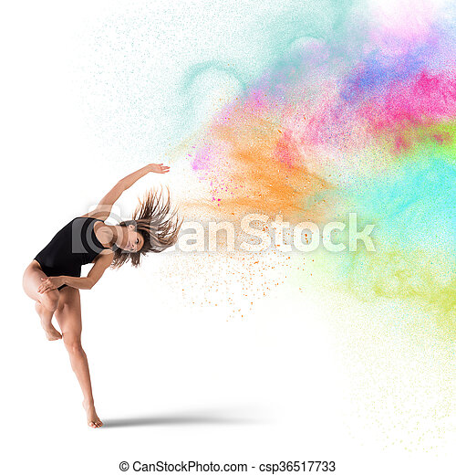 Baila con pigmentos de colores - csp36517733