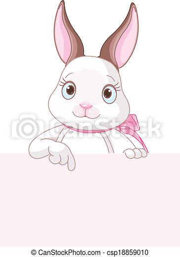 baixo, bunny easter, apontar - csp18859010