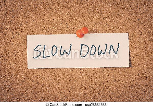 baixo, lento - csp28681586