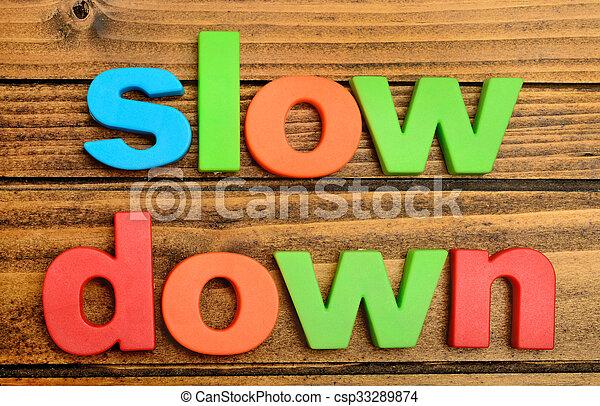 baixo, tabela, lento, palavra - csp33289874