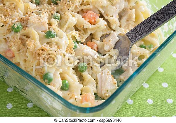 Baked Chicken Noodle Casserole - csp5690446