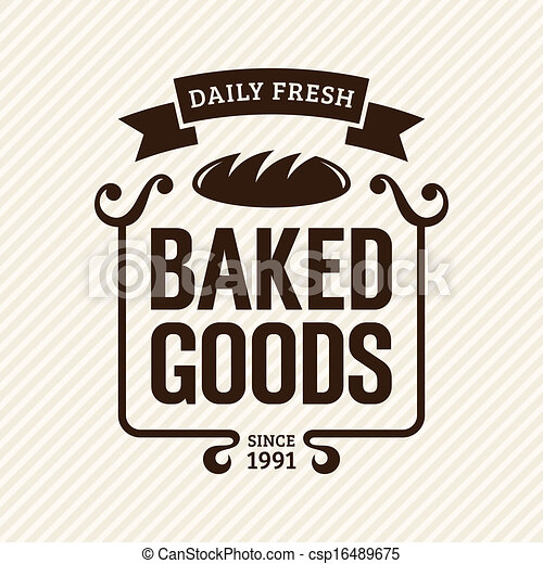 baked goods vintage bakery label vector illustration vectors rh canstockphoto com baked goods border clipart baked goods clipart free