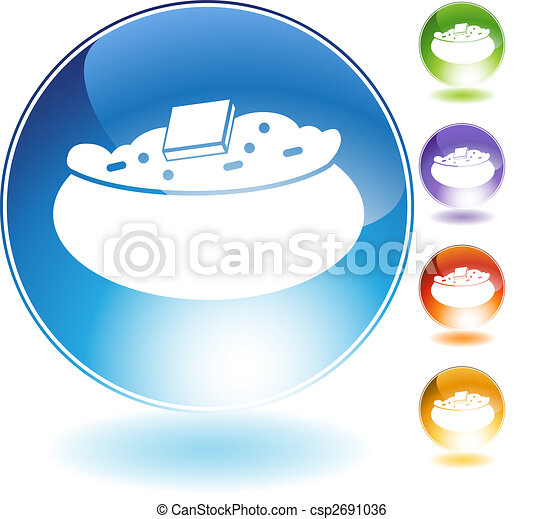 baked potato crystal icon - csp2691036