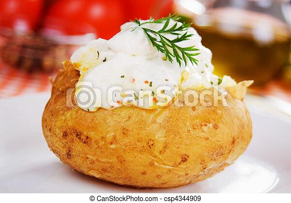 Baked potato - csp4344909