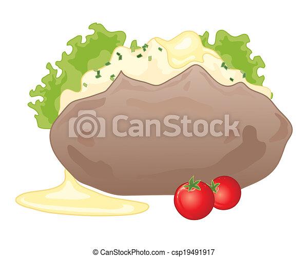 baked potato - csp19491917