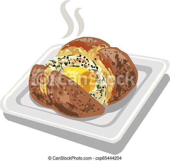 baked potato - csp65444204