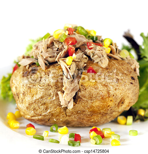 Baked Potato with Tuna - csp14725804