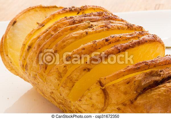 Baked potatoes - csp31672350
