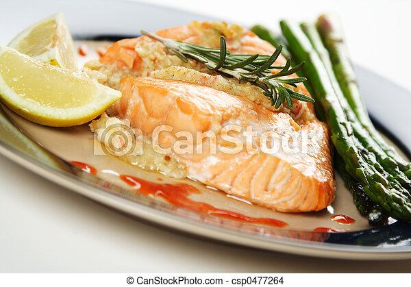 Baked salmon - csp0477264