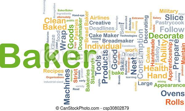 Baker background concept - csp30802879