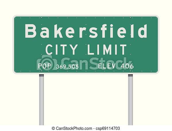 Bakersfield City Limit road sign - csp69114703