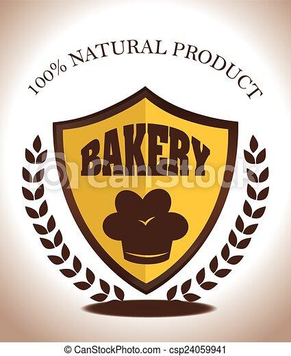 Bakery design over white background vector illustration - csp24059941