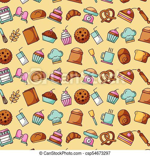 bakery dessert sweet food decoration wallpaper design vectorbakery dessert sweet food decoration wallpaper design