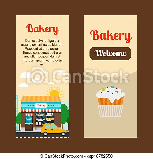bakery house flyers bakery house vertical flyers with shop building