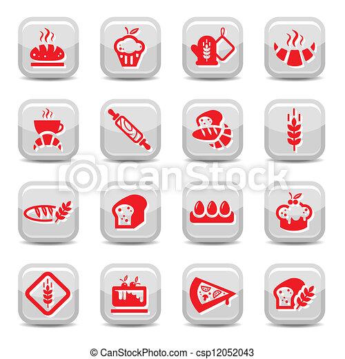 bakery icons - csp12052043