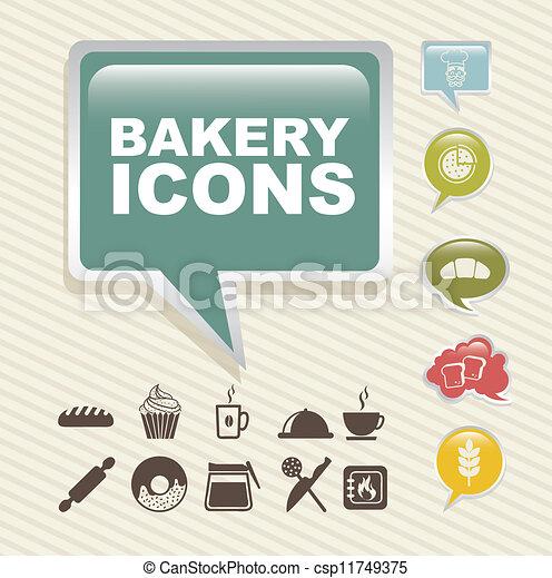 bakery icons - csp11749375