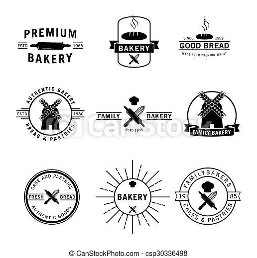 Bakery label badge - csp30336498
