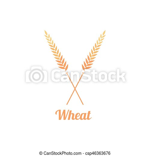Bakery logo badge with wheat. easy to use business template.