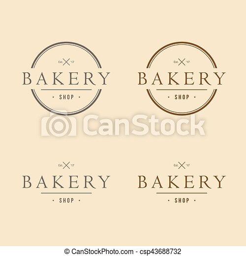 Bakery logo vintage design vector template icon design.