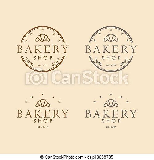 Bakery logo vintage design vector template. Bakery logo vintage ...