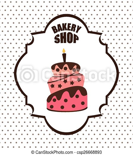 Bakery Shop Design Vector Illustration Eps10 Graphic
