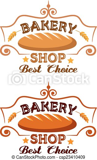 Bakery shop label - csp23410409