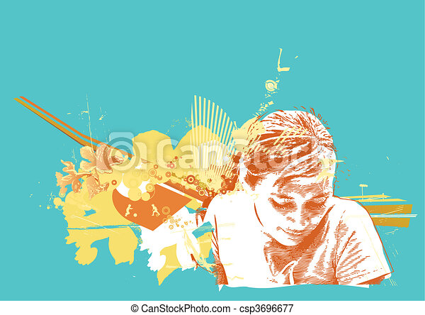 bakgrund, abstrakt - csp3696677