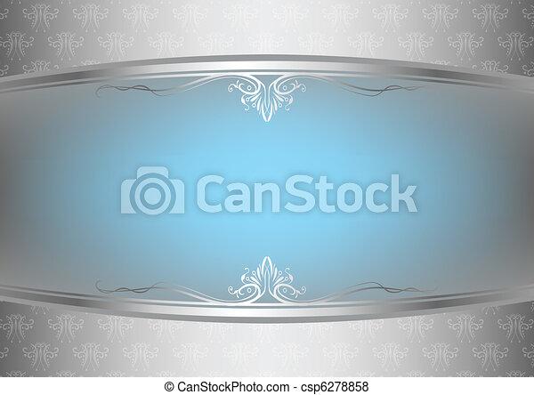 bakgrund, abstrakt, blommig - csp6278858