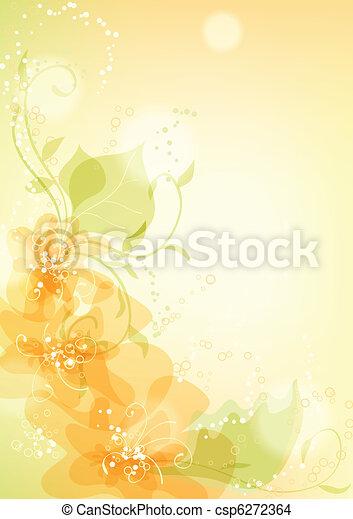bakgrund, blommig - csp6272364
