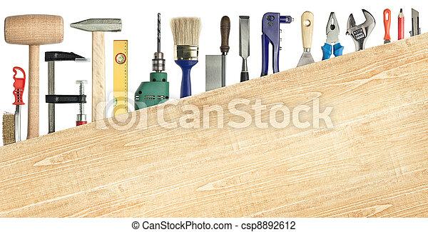 bakgrund, carpentry - csp8892612