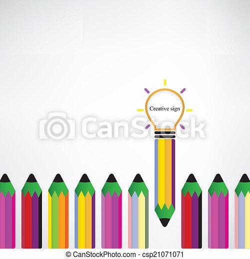 bakgrund, skapande, lök, lätt, idé, begrepp - csp21071071