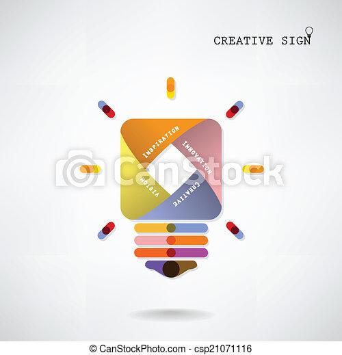 bakgrund, skapande, lök, lätt, idé, begrepp - csp21071116