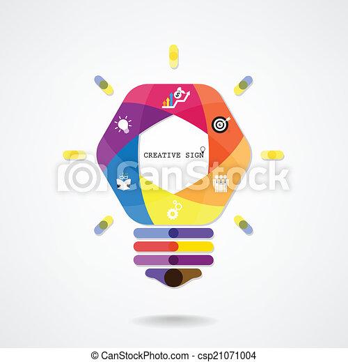 bakgrund, skapande, lök, lätt, idé, begrepp - csp21071004
