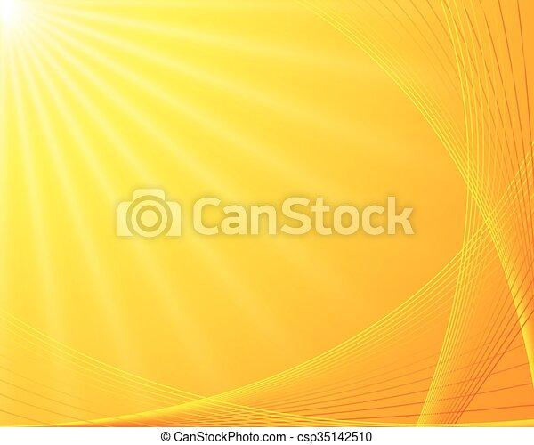 bakgrund, sunburst - csp35142510