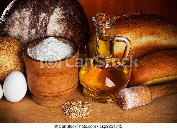 Baking bread still-life - csp9251845