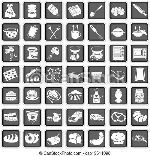 baking icons - csp13511098