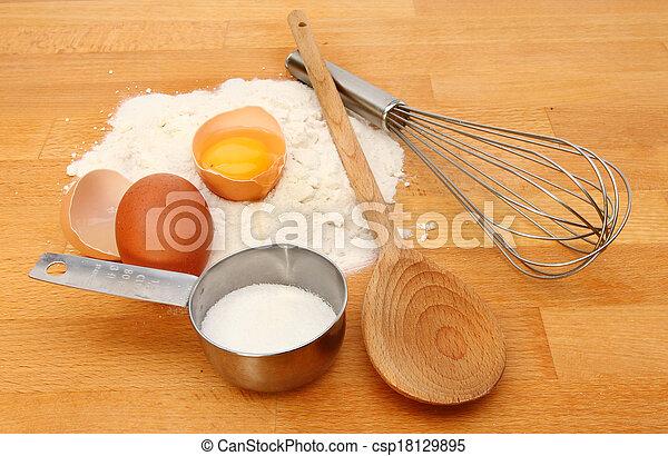 Baking ingredients - csp18129895